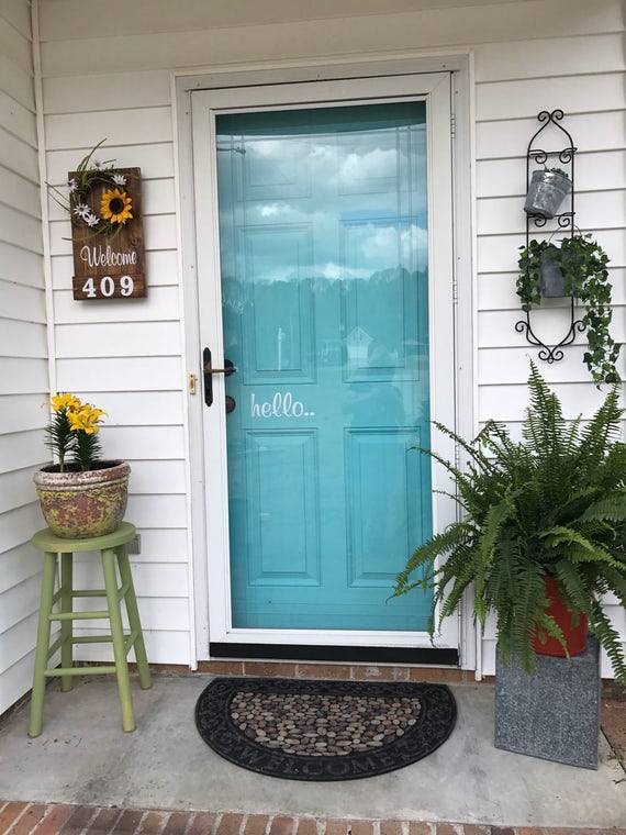 Front Door Sign, Welcome wooden Sign, Address Numbers, Front Porch Decor, Rustic Address sign, Home Address Sign, Front Porch Wreath