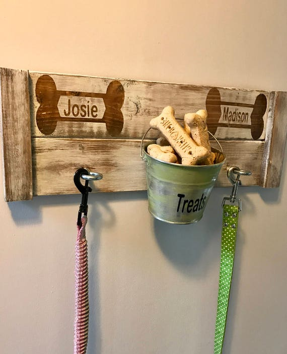 Dog Treats, Dog Treat Jar, Dog Treat Container, Dog Treat Storage, Dog Treat Station, Dog Treat Sign, Hooks for Dog Leashes, Dog Leash Sign