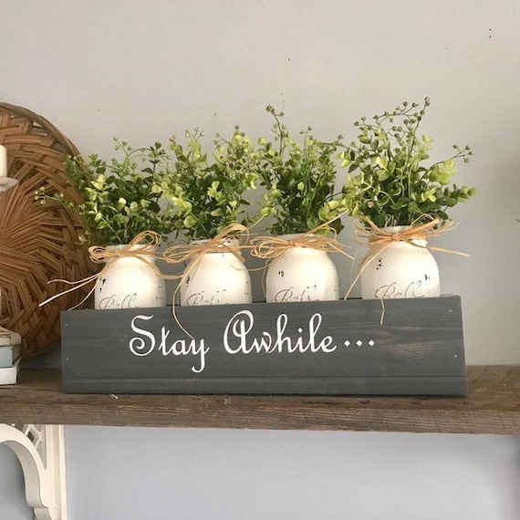 Boxwood Home Decor Floral Arrangement, Living Room Decor, Rustic Country Decor, Table Decor, Personalized Gift For Mom