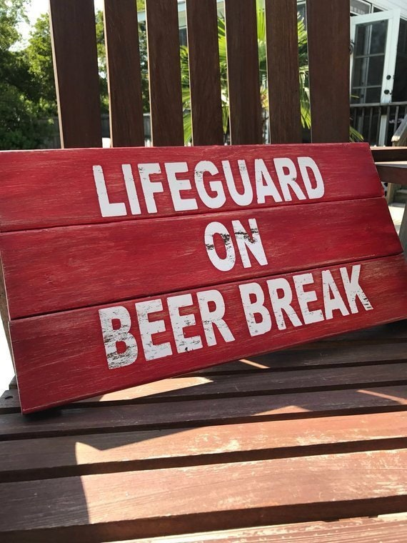 Gift for Him, Outside Pool Sign, Fathers Day Gift, Funny Fathers Day Beer Sign