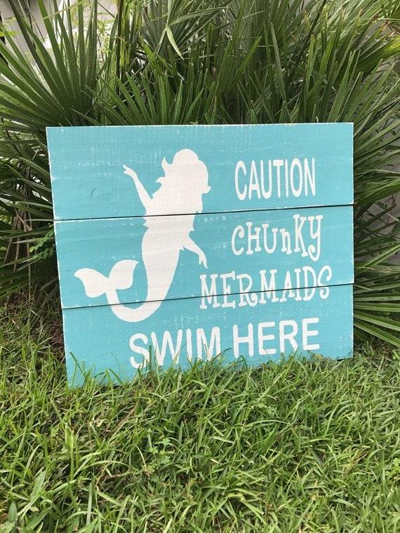 Mermaid Beach Mermaid Decor Mermaid Signs Signs For Pools Personalized Mermaid Personalized Pool Decor