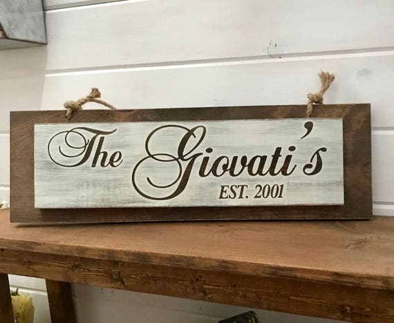 Personalization Family Wood Sign Home Decor Family Sign Family Rustic Home Decor Personalization Home Decor Farmhouse Sign
