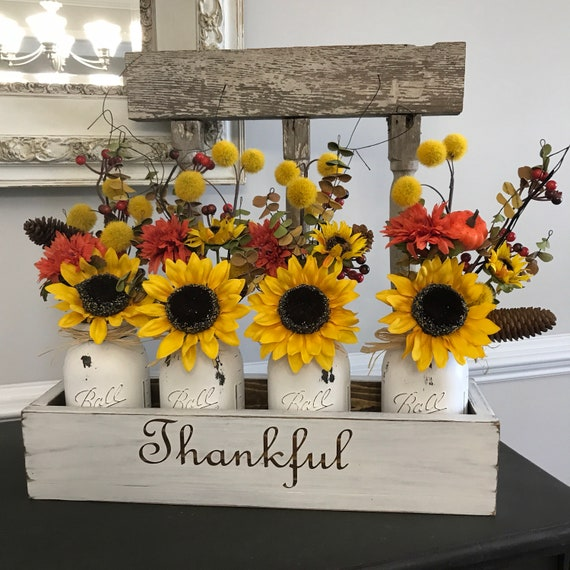 Fall Decor, Decoration for Fall, Mason Jar Decor, Farmhouse Table decor, Rustic Fall Decor, Fall Decorations, Country Home Decor, Wood