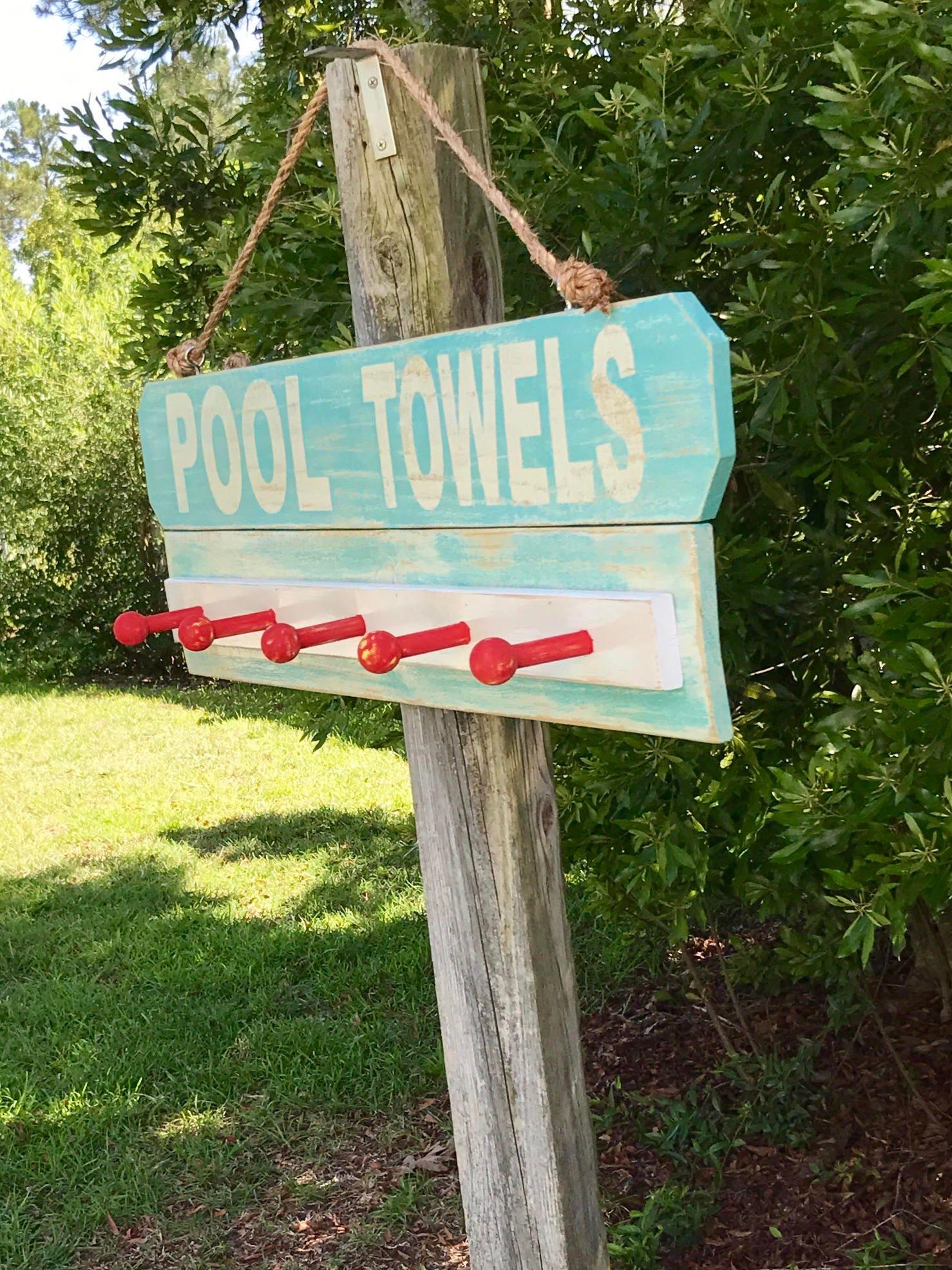 Beach House Outdoor Towel Rack