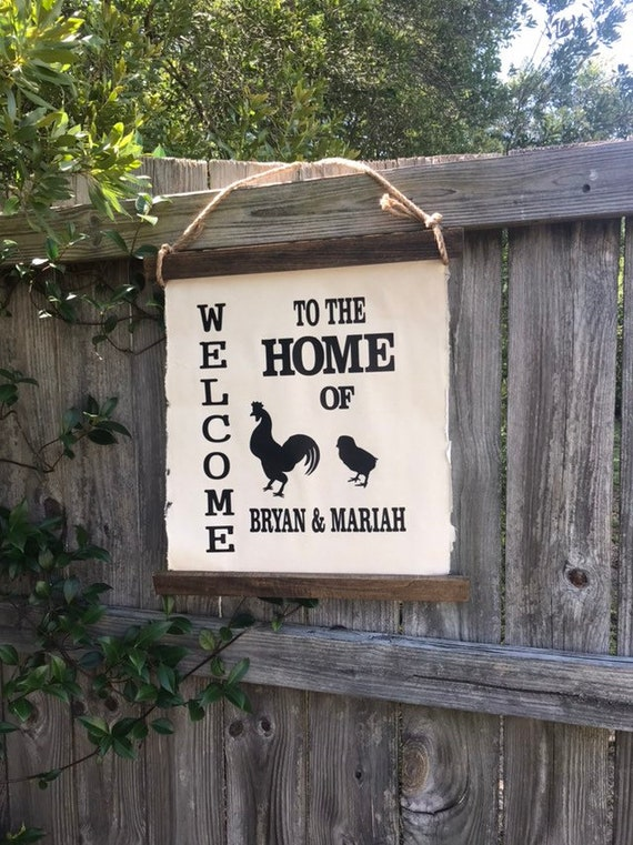 Welcome Home Established Sign, Last Name Sign, Home Established Sign, Family Name Sign Wood