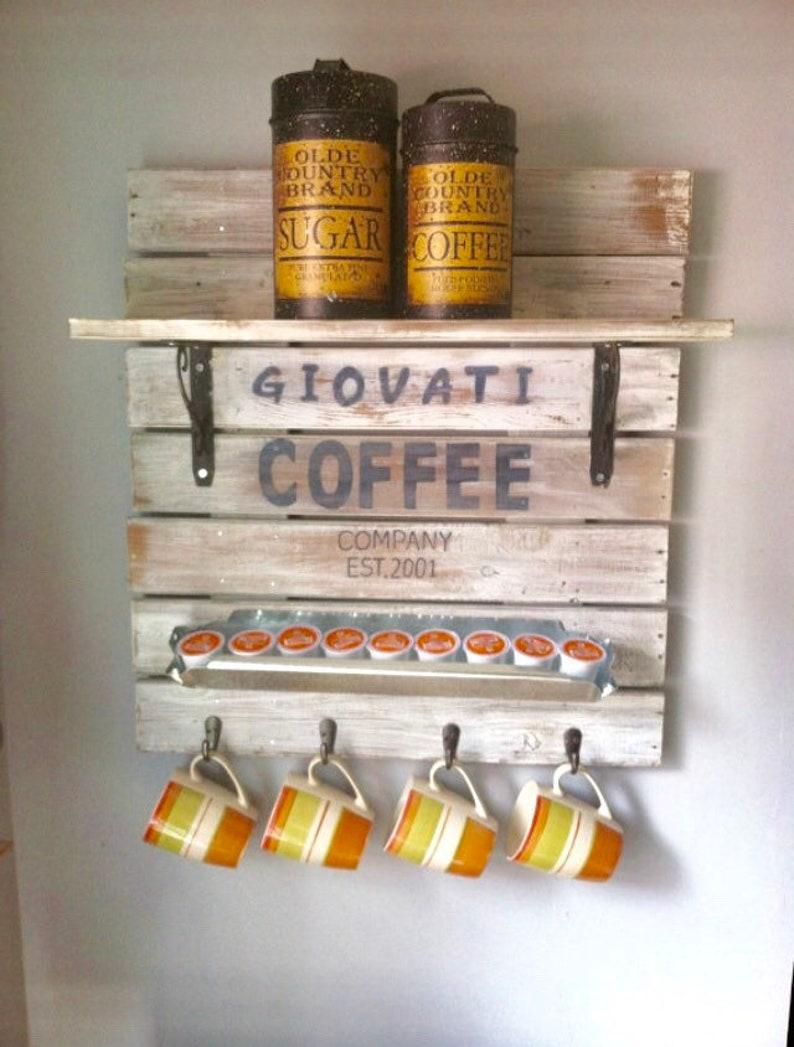 Farmhouse Kitchen Coffee Sign Custom Housewarming Gift image 0