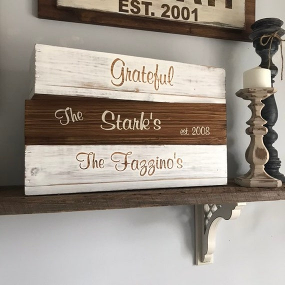 Rustic Home Decor, Personalized Wood Planter Box, Wedding Decor Gift