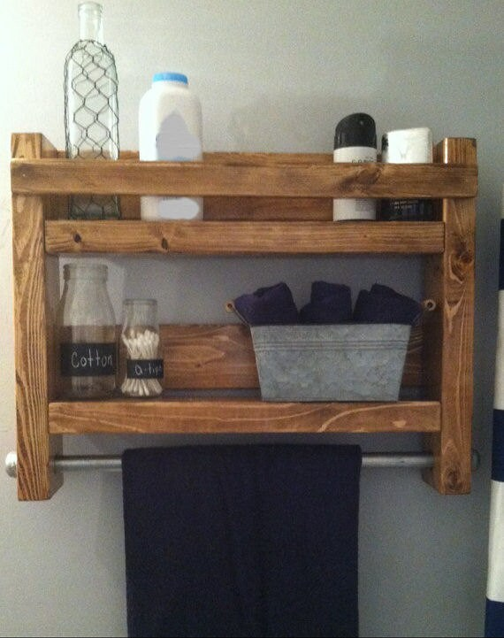 Rustic bathroom, Country bathroom, Rustic Decor, Rustic towel rack, Rustic Home decor, Bath Towel Rack, Industrial towel Rack