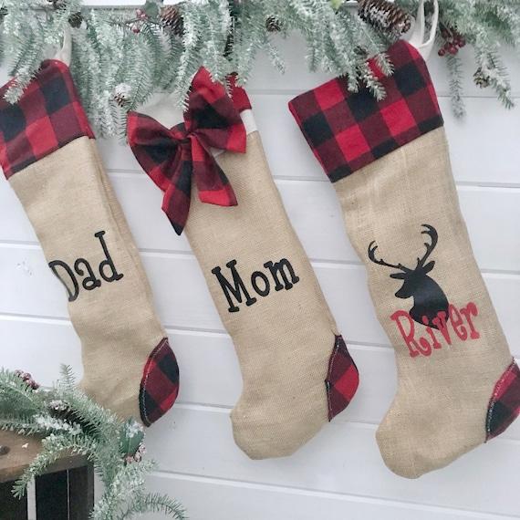 Monogrammed Stockings, Pet Monogrammed Stockings, Holiday Christmas Stockings, Monogram Stockings