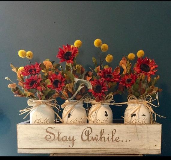 Fall Centerpiece, Rustic Fall Decor, Farmhouse Centerpiece, Thanksgiving Table Decor, Fall Decorations, Centerpiece, Floral Arrangement
