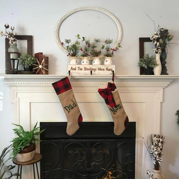 Christmas Stocking, Stocking Holder, Personalized Stocking Holder, Christmas Sign, Personalized Christmas, Rustic Christmas, Christmas