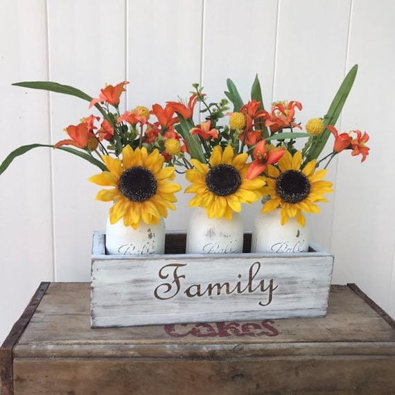 Fall Table Decor Sunflower Centerpiece for Kitchen Island Decor Autumn Table Decor New Home Gift Wedding Gift Couple