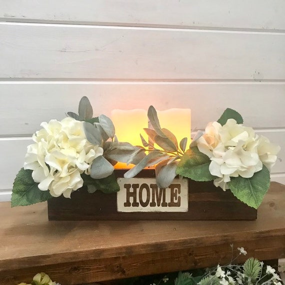 Candle Holder Wood, Table Candle Centerpiece, Personalized Candle Holder, Farmhouse Home Decor Candle Arrangement, Candle Wedding Decor