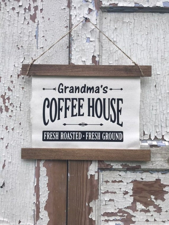 Personalized Coffee Sign Custom Christmas Gift Teacher Gift Mom Christmas Gift Personalized Sign
