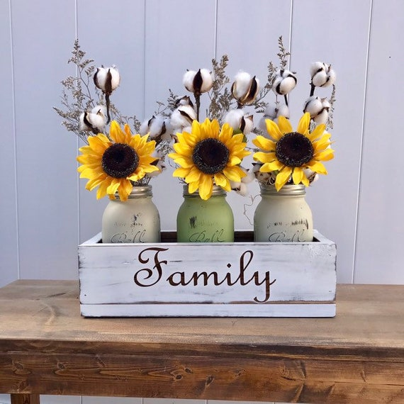 Spring Table Decor Sunflower Arrangement, Sunflower Decor, Artificial Flower, Sunflower Wedding, Rustic Home Decor Fall Decor