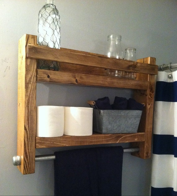 Rustic bathroom Decor, Country bathroom Wall Decor, Rustic Decor, Rustic towel rack, Rustic Home decor, Bath Towel Rack