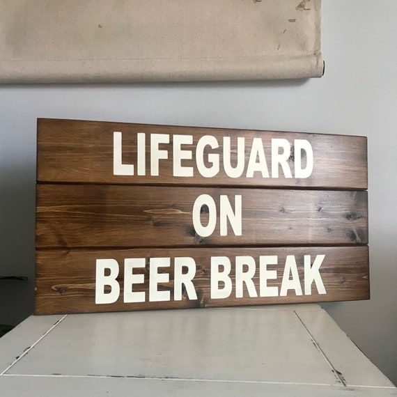 Lifeguard Pool Sign, Beach Decor for Beach Home, Pool House Sign, Lake House Sign, Lake House Decor, Backyard Pool Sign, New Home Owner Gift