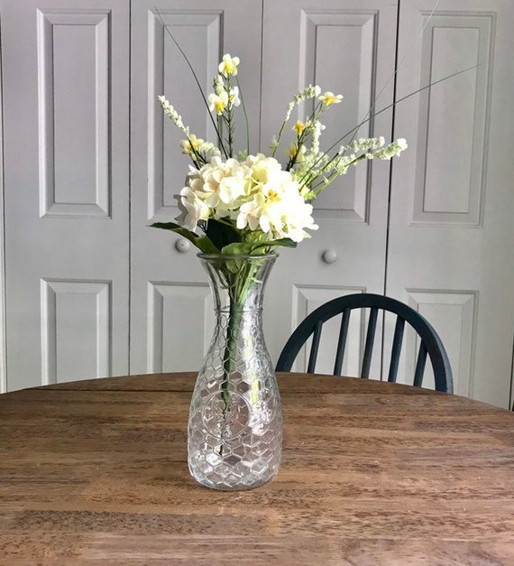 Farmhouse Kitchen Decor, Table Centerpiece, Kitchen Home Decor, Thinking Of You Gift, Farmhouse Flower Arrangement, Dining Table Centerpiece