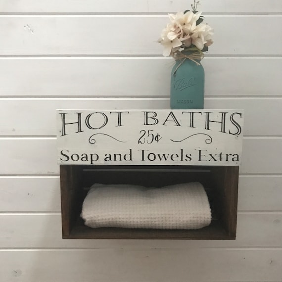 Rustic Bathroom Decor, Towel Rack, Farmhouse Bathroom Decor, Country Home Decor