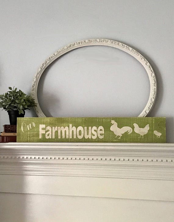 Rustic Decor For Wall, Decor Signs, Farmhouse Style Sign, Wall Decor, Rustic Chicken Sign, Wood Sign, Home Living, Home Decor, Personalized