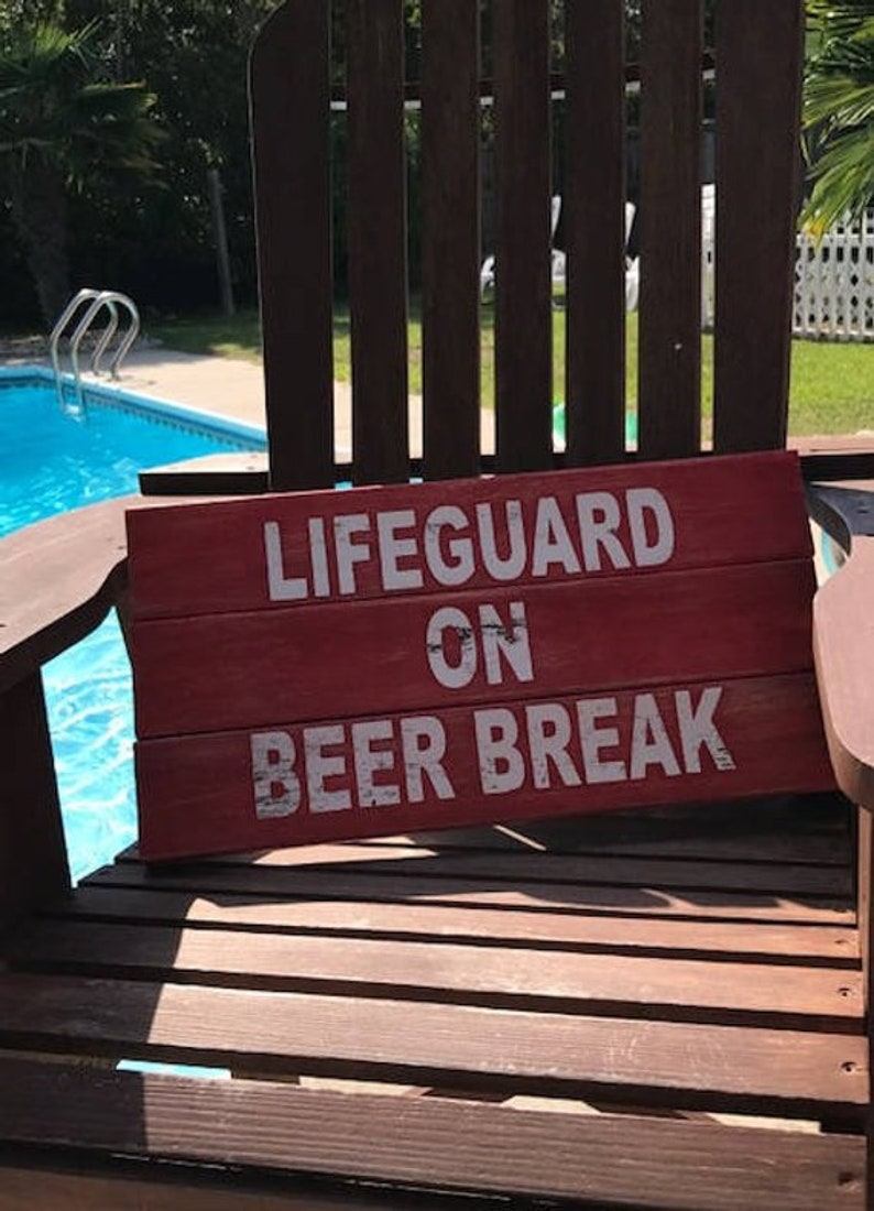 Outside Pool Sign Funny Fathers Day Beer Sign Gift for Dad Dad Sign Fathers Day Gift