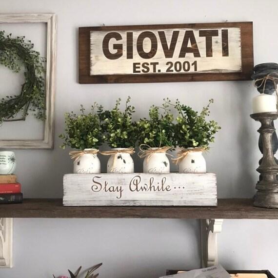 Floral Arrangement, Mason Jar Floral Arrangement, Grateful Decor, Arrangements Mason Jars, Rustic Centerpiece, Boxwood Decor, Wood Box Decor