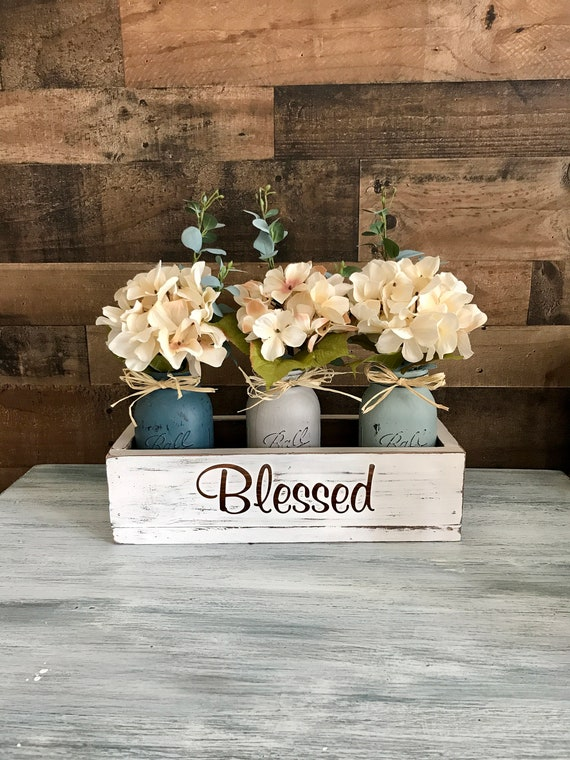 Rustic Coffee Table Centerpieces.Rustic Coffee Table Decor Bedside Table Decor Farmhouse Nightstand Decor Wood Coffee Table Centerpiece Guest Room Decor Flower Box