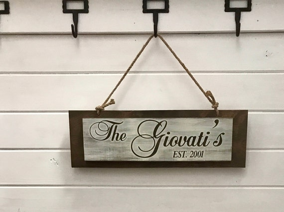 Farmhouse Wood Sign Personalized with Last Name