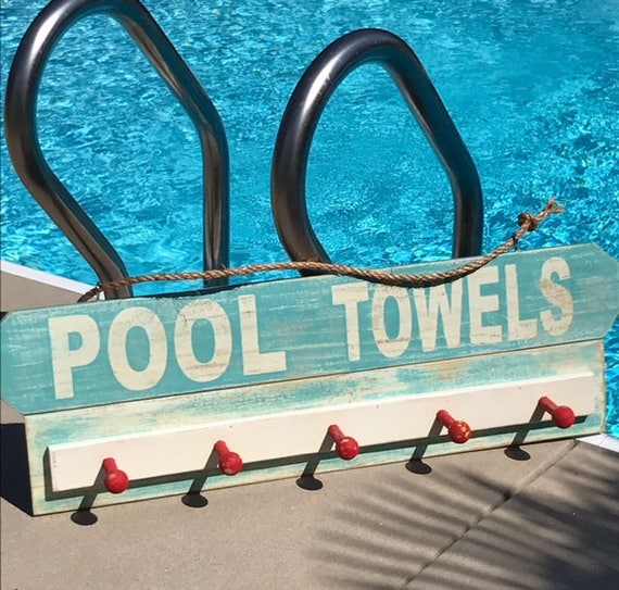 Home Living, Pool Towel Sign, Wood Pool Sign, Home Decor, Outside Decor, Custom Sign, Beach Towel Rack, Outdoor & Gardening sign, Pool