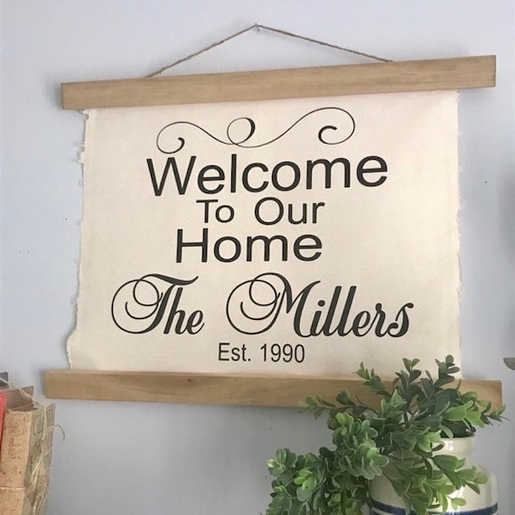 Wedding Welcome Sign, Wedding Sign, Rustic Wedding Decor, Established Sign, Last Name Sign, Newlywed Gift Couple Anniversary Gift