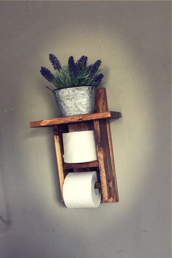Toilet Paper Holder, Farmhouse Toilet Paper Holder, Bathroom Decor, Toilet Roll Holder, Wood Toilet Paper Holder, Paper holder, TP Holder