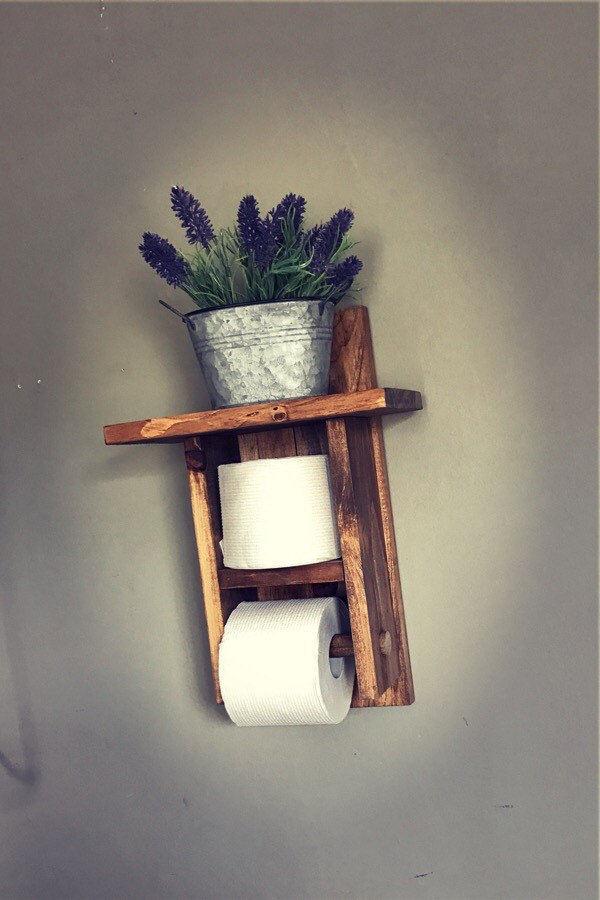 Toilet Paper Holder, Farmhouse Toilet Paper Holder, Bathroom Decor ...