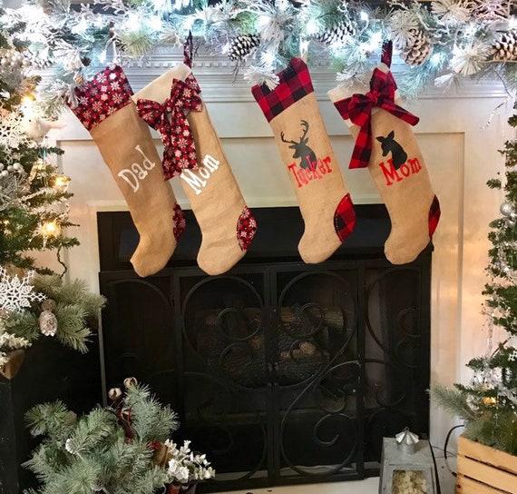 Christmas Stocking Personalized, Holiday Decor Stocking, Monogrammed Christmas Stocking, Custom Stockings, Christmas Entryway Decor