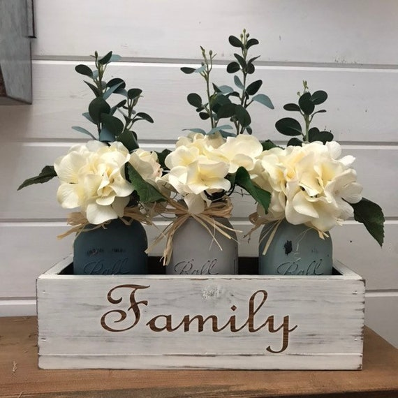 Farmhouse Decor Wedding Rustic Wedding Rustic Wedding Centerpiece Farmhouse Wedding Decor Dining Room Blessed Farmhouse Table
