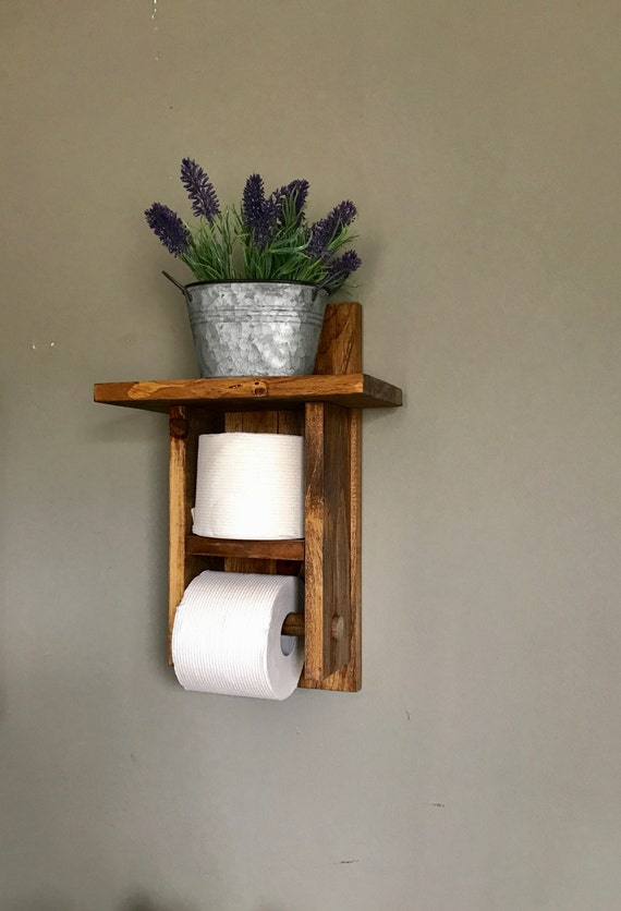 Toilet Paper holder, Bathroom Decor, Toilet Paper storage, Bath TP Holder, Toilet roll Holder, Rustic Bathroom, Toilet Paper Rack, Storage