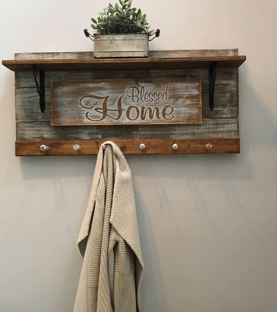 Merry Christmas, Farmhouse Christmas, Christmas Decorations, Wood Christmas, Coat Storage, Entryway Rack, Coat Hooks, Rustic Coat Hooks