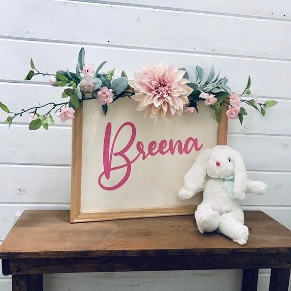 Baby Shower Gift, Nursery Decor, Baby Nursery Decor, Nursery Decoration, Baby Girl, Canvas Nursery Sign, Nursery Wall Art,