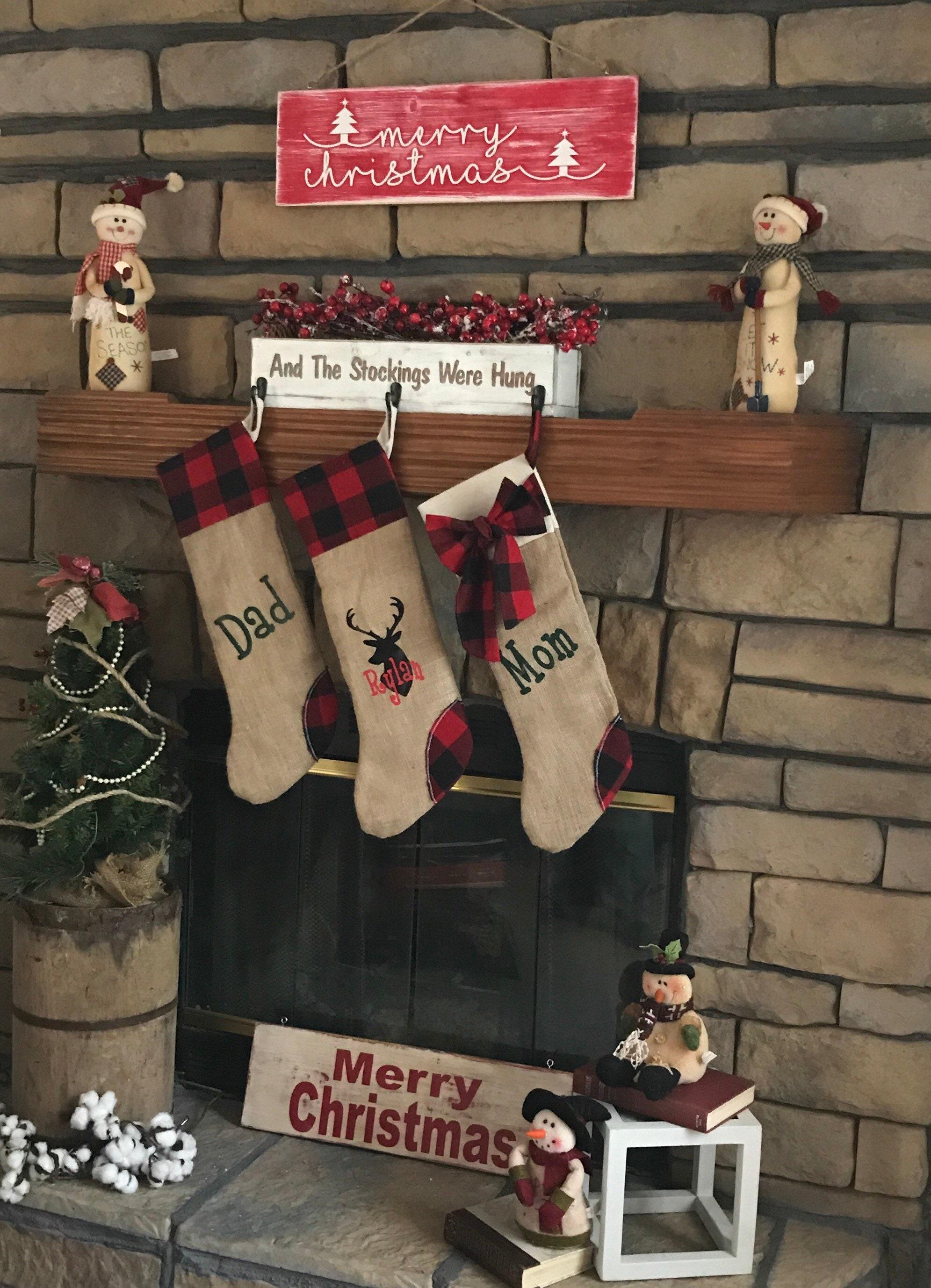 e62e40afefc Holiday Decor Christmas Stockings Personalized