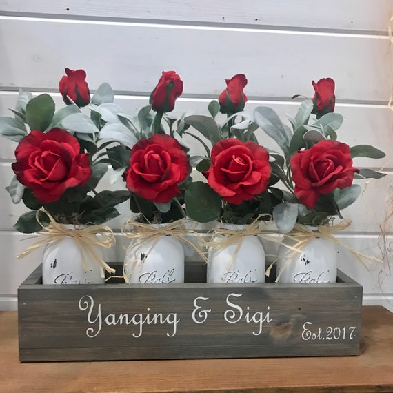 Valentines Day Gift personalized for her, Red Roses, Girlfriend Gift, Roses For Mom, Gift For Her, Anniversary Gift