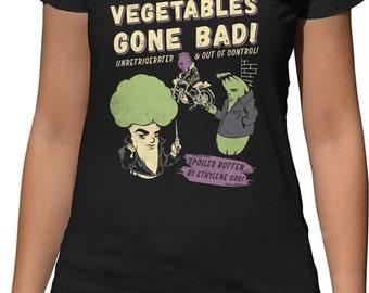 Bad Ass Veggies Funny Vegan Shirt - Vegetable Shirt - Vegan TShirt - Vegetarian Shirt - Vegan Clothing - Vegan Tee - Vegan Clothes