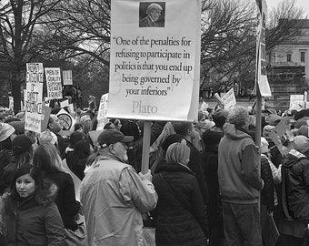 Black & White Protest Photography, Resist, Womens March on Washington, Resist Print, Womens March Photography, Anti Trump Resist Photography