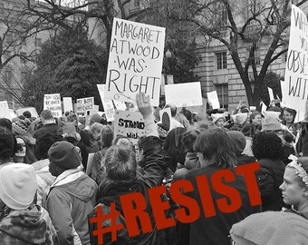 Feminist Art, Womens March on Washington Protest Photography, Resist Print, Anti Trump Womens March Photography, Resist Art, Womens Rights