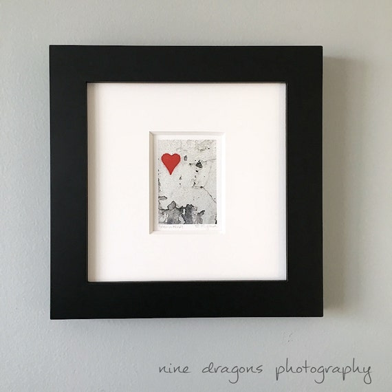Small Framed Art Framed Heart Print Framed Photography | Etsy