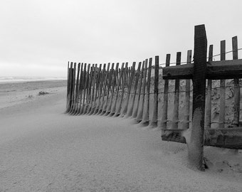 Black & White Photography, Beach Photography, Sand Dune Beach Art, Minimalist Beach Decor, Black and White Prints, Coastal Wall Art, OCNJ