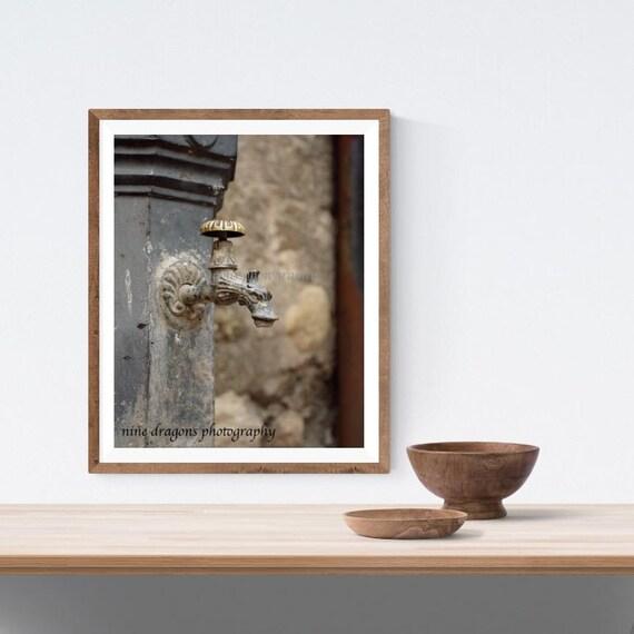 Tuscany Italy Wall Art Gargoyle Fountain Italian Kitchen | Etsy