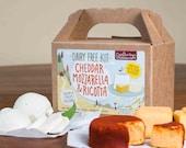 Dairy Free Cheddar, Mozzarella & Ricotta DIY Kit, Vegan, Paleo, Allergy Friendly