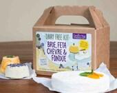 Dairy Free Kit - Brie, Feta, Chèvre & Fondue - Vegan, Paleo, Gluten-Free