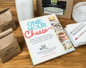 Book and Deluxe Kit Bundle- Make 20+ Cow Milk and Goat Milk Cheeses with One Hour Cheese (photos)