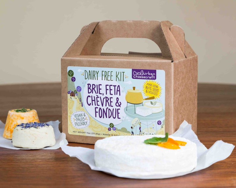 Dairy Free Kit  Brie Feta Chèvre & Fondue  Vegan Paleo image 0
