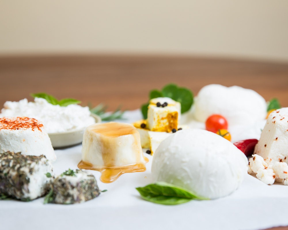 Deluxe DIY Cheese Kit, Make Mozzarella, Ricotta, Goat Cheese and more- Order by Dec 18 for Dec 24 Delivery in U.S.